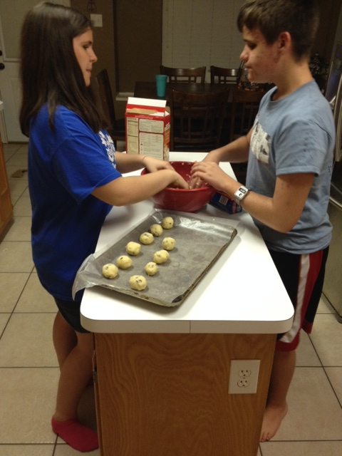 making cookies... mm.